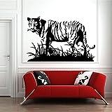 Kunst Tier Wandaufkleber Forest King Tiger Beast Wandaufkleber Vinyl Interior Home Decoration Raubtier Tier Abziehbilder Haushaltsgegenstände Wandbilder Haus Und Garten Tapete Burgund 65x42cm