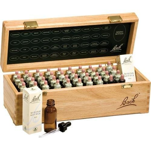 Bach Flower Remedies Set, wooden, 40 x 20 ml, Set Flores de Bach en caja de madera