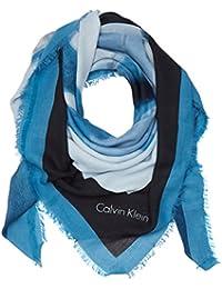 Calvin Klein M4rissa Print Large Scarf, Pañuelo para Mujer, Azul (Cashmere Blue 439), Talla Única (Talla del Fabricante: OS)