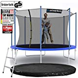 Kinetic Sports Outdoor Gartentrampolin Komplettset Ø 360 cm Sicherheitsnetz Randabdeckung