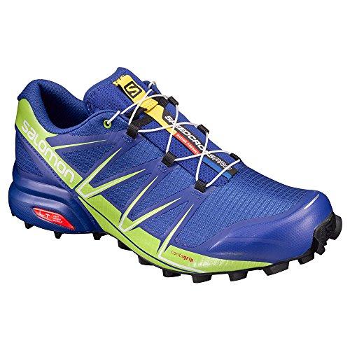 SALOMON SPEEDCROSS PRO BLEUE ET VERTE Chaussures trail salomon blue