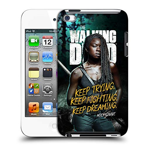 fizielle AMC The Walking Dead Michonne Staffel 9 Zitate Harte Rueckseiten Huelle kompatibel mit Apple iPod Touch 4G 4th Gen ()