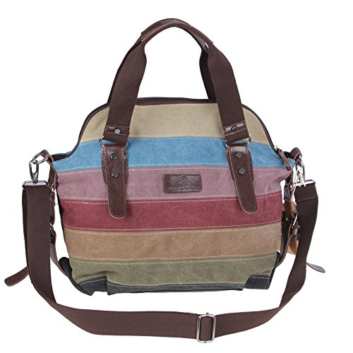 koolertron-vintage-womens-faux-leather-shoulder-colorful-canvas-tote-crossbody-handbag