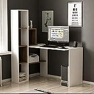 Bravo Juliet Studying Desk, White - 151.8 cm x 120 cm x 90 cm