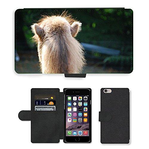 Just Mobile pour Hot Style Téléphone portable étui portefeuille en cuir PU avec fente pour carte/bateau/tête m00140099Camel Desert Animal crinière//Apple iPhone 6Plus 14cm