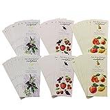 COM-FOUR® 72x selbstklebende Etiketten für Gläser und Flaschen mit schönen Obstmotiven (072 Stück - Etiketten V2)