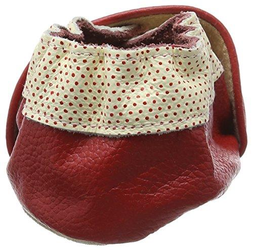 Rose & Chocolat Apple Red, Chaussures de Naissance Bébé Fille rouge (Red)