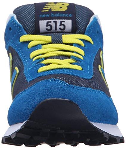 New Balance Women's 515 Modern Classics Lifestyle Sneaker, Blue/Yellow, 10 B US Blue/Yellow