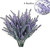 GKONGU Pure Lavanda Artificial Flores romántico nieve de lavanda Ideal para decoración del hogar habitación...