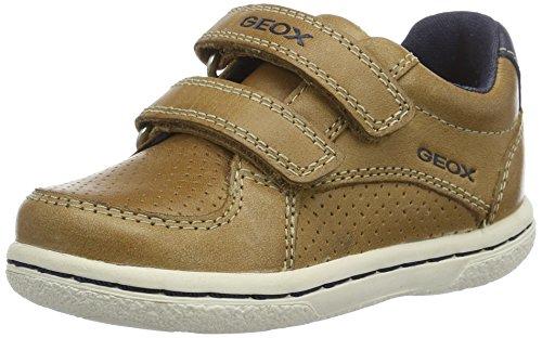 Geox Baby Jungen B Flick Boy B Sneaker, Beige (Caramel/navyc5gf4), 21 EU