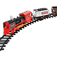 Gaddrt RC Remote Control Electric Steam Smoke RC Train Set Kids Fun Conveyance Car Model Toy Gift - Compare prices on radiocontrollers.eu