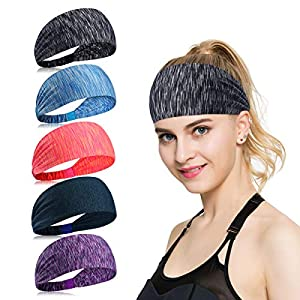 ECOMBOS Sport Stirnband für Frauen Lady – Headband Schweißband für Workout, Jogging, Walking, Yoga, Fitness, Crossfit
