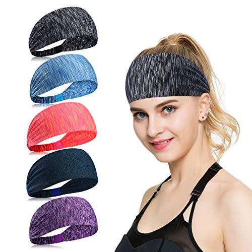 ECOMBOS Sport Stirnband für Frauen Lady - Headband Schweißband für Yoga, Laufen, Fitness, Fahrrad Running Rennen Anti- Rutsch Haarband Headbands für Herren und Damen