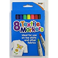 textile fabric markers - set of 8 assorted colours