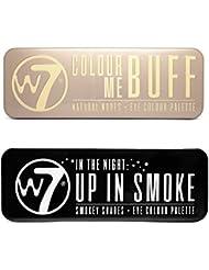W7 Colour Me Buff & Up in Smoke Lidschatten Palette