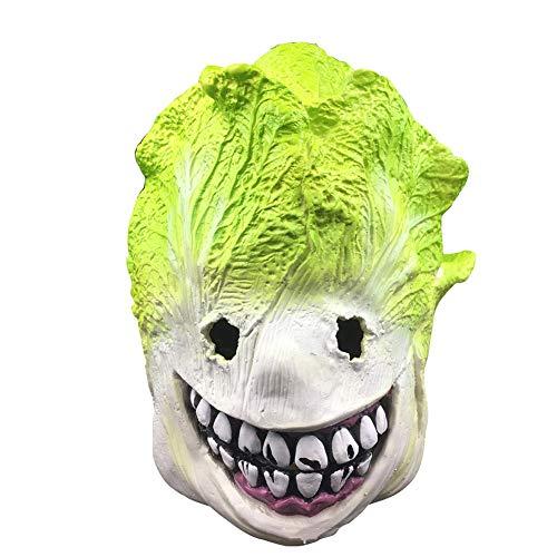 YXXHM- Latex Hood Kohl Full Face Horror Requisiten Spiel Party Supplies Live-Übertragung Halloween-Maske