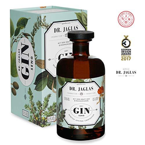 Dr. Jaglas Gin Seng | Wacholderbeer-Spiritus als Einzelflasche mit 500 ml | 50% Vol