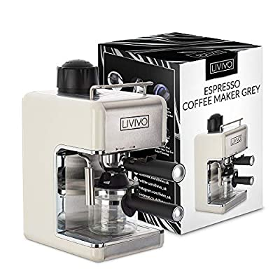 LIVIVO Professional Espresso Cappuccino Coffee Maker Machine with Milk Frothing Arm for Home and Office from LIVIVO