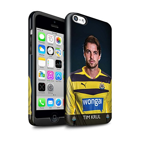 Officiel Newcastle United FC Coque / Brillant Robuste Antichoc Etui pour Apple iPhone 5C / Pack 25pcs Design / NUFC Joueur Football 15/16 Collection Krul