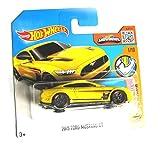 Hot Wheels Ford Mustang GT 2015 gelb 1/10 1:64