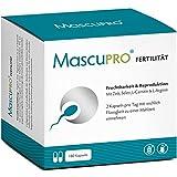 MascuPRO Fertilität Mann - Fruchtbarkeit - Spermienproduktion - 180 Kapseln - L-Arginin, L-Carnitin, Folsäure - Kinderwunsch Mann Tabletten
