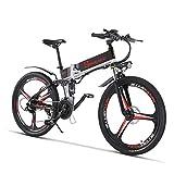 500w / 350w Bici elettrica da Montagna Mens ebike Bicicletta Pieghevole MTB Shimano 21 velocità (26'(350w))