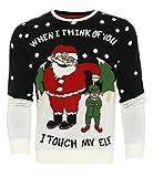 Herren Weihnachts Pullover Weihnachtself Weihnachten Größe S M L XL - Weihnachtself, XXL