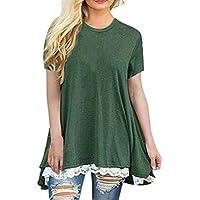 Damen T-Shirt,Beikoard Frauen Tops Kurzarm-Spitze Scoop Neck A-Line Tunika Bluse Shirt Muttertags Feiertags Oberteile... preisvergleich bei billige-tabletten.eu