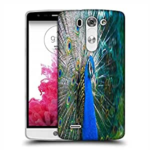 Snoogg peacock side view Designer Protective Back Case Cover For LG G3 BEAT STYLUS