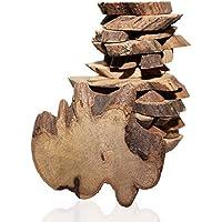 Kurtzy Pack 500g Rebanadas de Madera Natural Rustica 180 Piezas Alrededor de 3,5-6cm Trozos de Tronco de Madera con Corteza - 5mm de Grosor para Adornos de Madera Decoraciones Centros de Mesa para Bodas