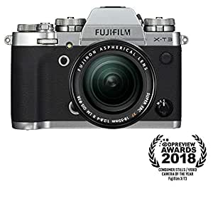 Fujifilm X-T3 Mirrorless Digital Camera with 18-55mm Lens Kit with Memory Card and Bag (Silver)