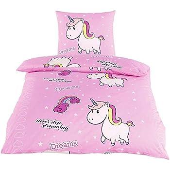 4afc8bfd4e Bettwäsche Little Einhorn Unicorn Pony Hochwertige Microfaser Bettbezug  135x200