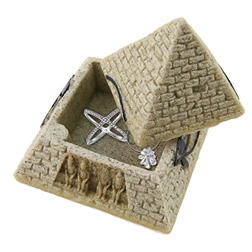 Winterworm Hinged Eye Jewelry Box of Egyptian Pyramid, Decorative Figure