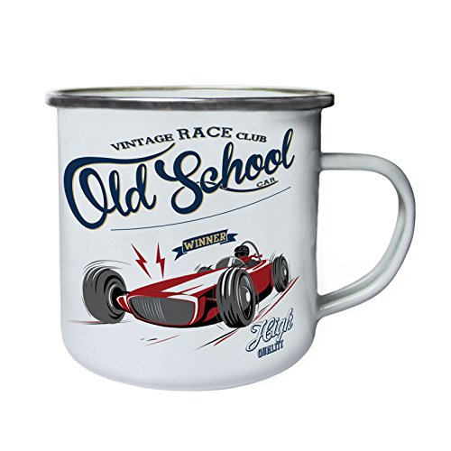 Kitchen Club (Old School Car Race Club Gewinner Retro, Zinn, Emaille 10oz/280ml Becher Tasse y204e)