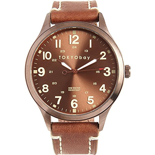 tokyobay-t227-br-herren-edelstahl-mason-braun-lederband-braun-dial-watch