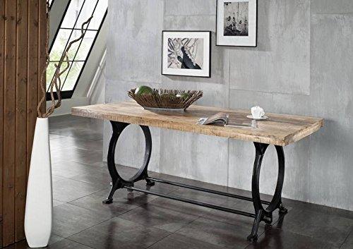 MASSIVMOEBEL24.DE Massivmöbel Industrial-Stil Esstisch 180x90 Altholz Eisen lackiert massiv Holz Industrial #27