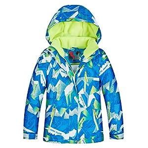 Echinodon Jungen Skijacke Schneejacke Snowboardjacke Kinder Winterjacke Wassersicht Winddicht Warm Atmungsaktiv