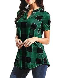 3cb9d2a91d8dcc T Shirt Donna,Manica Corte estive Ragazza t Shirt Donna Maglietta con  Scollo a V