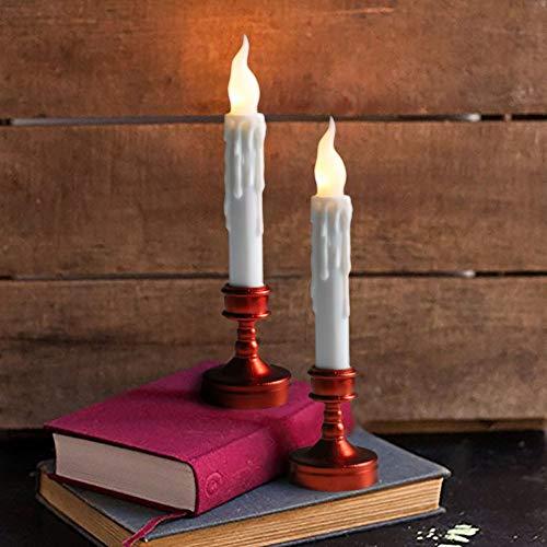 GTQC 6 Pack Flammenlose Kerze Batteriebetriebene Kerzen Echte Wachstumssäule LED Kerze 2.0cm*17cm Fuchsia Cupcake