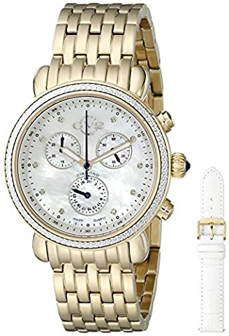 GV2by Gevril Damen-Tapete zum Marsala 9802Analog Display Swiss Quartz Gold Watch Set