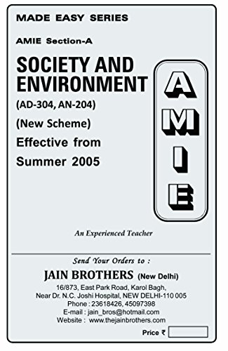 AMIE Society and Enviornment AD304 Solved Paper