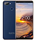 smartphone economici in offerta OUKITEL C11 Pro DUAL SIM 4G cellular Android 8.1-5,5 pollici (18: 9) Full-Display, quad-core da 1,5 GHz 3 GB + 16 GB, 8MP+2MP+2MP, impronte digitali/GPS - Blu