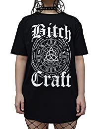 The Dead Generation Gothic Symbol Bitch Craft T Shirt - Alternative Occult Clothing For Women by Luna Cult