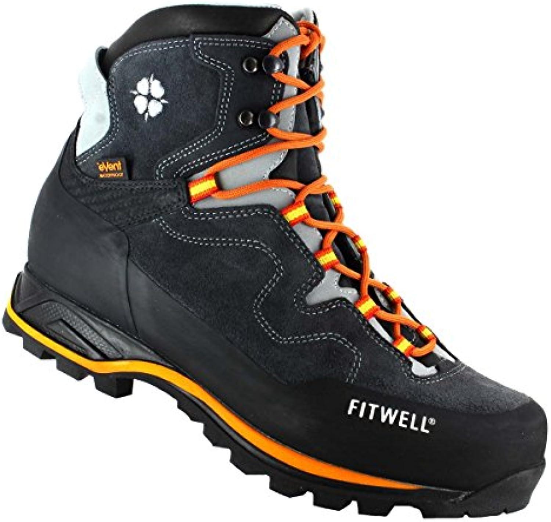 HiTec Sajama Mid WP Waterproof Vibram Herren Wanderschuhe Leder Schuhe Hoch Outdoor Boots Stiefel Wasserabweissend