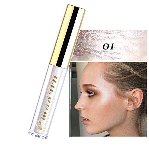 Shimmer Liquid Highlight,Allouli Angel Brightening Liquid Makeup Nude Shades
