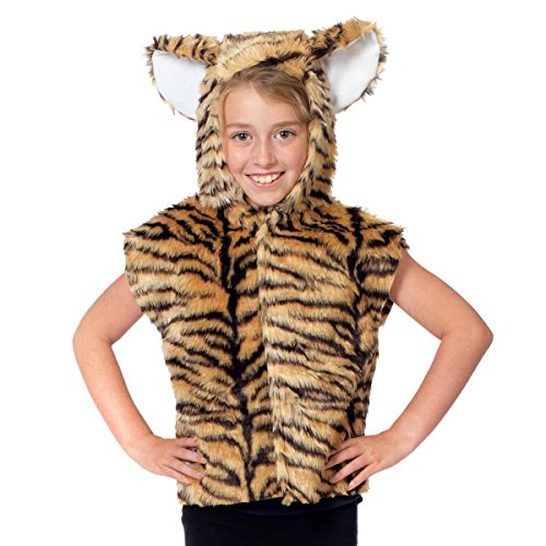 (Tigerkostüm Einheitsgröße - Einheitsgröße 3-9 Jahre.)