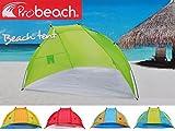 Strandmuschel Strandzelt Strand Sonnenschutz Windschutz Sichtschutz Beach Tent , Farbe:grün-orange
