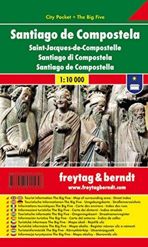 Santiago de Compostela, plano callejero de bolsillo plastificado. City Pocket. Escala 1:10.000. Freytag & Berndt. por VV.AA.