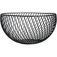 Fruit Bowl Favourall Housewares - Frutero de alambre (metal cromado, 26 x 14 cm) negro