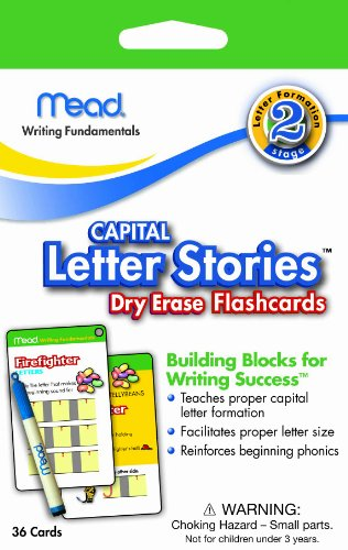 Mead Capital Letter Stories Dry Erase Flash Cards